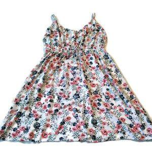 Torrid sun dress 2 18 20 white ruffle floral mini